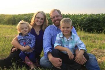 Kim Baldwin and family