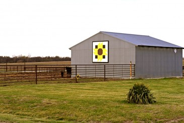 Sunflower quilt barn