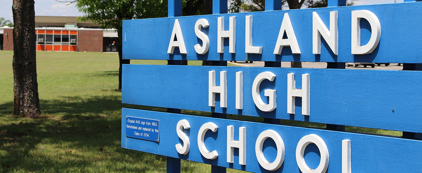Ashland High School KS sign