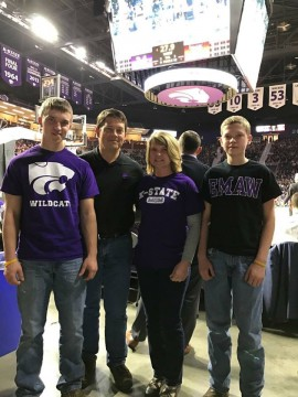 Cameron Peirce family at KSU game
