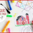 barn quilt coloring page craft