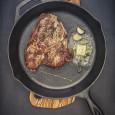 Steak in Cast Iron Skillet
